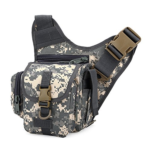 Zll/Esplosioni esterno tattico borsa Messenger piccola borsa da uomo Borsa a tracolla per fotocamera impermeabile in nylon Camo, three color ACU