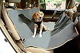 Faltbare Auto Haustier Rücksitz Schutzhülle Hängematte Für Hund, Dunkelgrau und Orange 56'L x 56' W