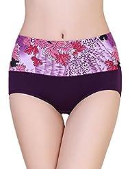 Malloom® Mujeres Bragas respirable cintura alta culata cadera Empuja Hacia Arriba fajas calzoncillos (púrpura)