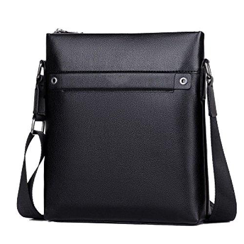 Yy.f Herrenmode Business-Tasche Kleine Ledermänner Tasche Schlanke Klassische Praktische Office Bag Computer Tasche Reisetasche. 3 Farben Black