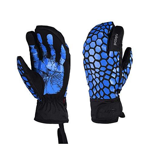 WYYUE Unisex-Skihandschuhe Outdoor Sports Herren Damen Winterhandschuhe Schneehandschuhe,Blue,S -