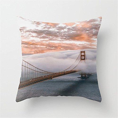 LESIF GOLDEN Gate Bridge - 211183 Throw Pillow Covers Kissen Kissenbezüge Kissenhülle 18 x 18 Inch 45 x 45 cm