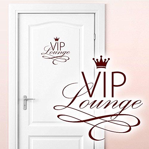 Grandora W5373 Adesivo murale WC Adesivo per Porta VIP Lounge - Rosso Scuro, (BxH) 19x18 cm