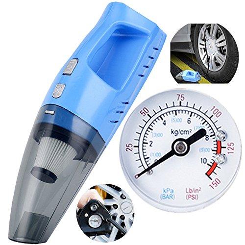 Greawei- 12 V Auto Staubsauger Mini Handheld 100 Watt High Power Super Saug Nass und Trocken Dual 4,2 Mt Netzkabel Aufblasbare Test reifen druck Vakuum Saugfähig ( Farbe : Blau )