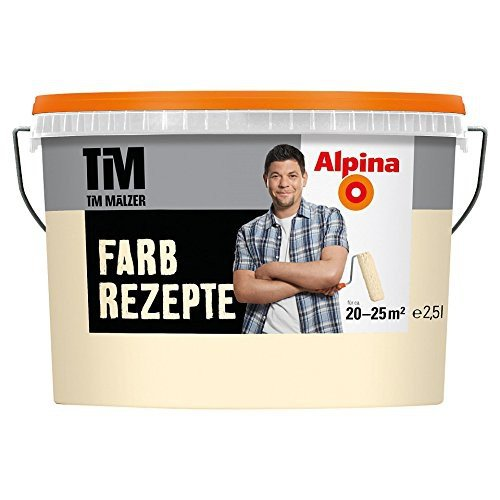ALPINA Farbe Tim Mälzer Farbrezepte 2,5 L., ein Hauch von Gelb