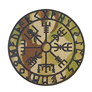 Multicam Vegvisir Viking Compass Norse Rune Morale Scorpion OCP Velcro Écusson Patch