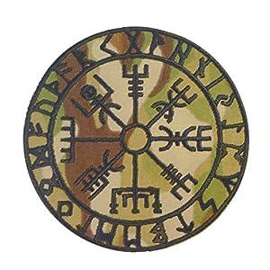 Multicam Vegvisir Viking Compass Norse Rune Morale Scorpion OCP Sew Thermocollant Écusson Patch