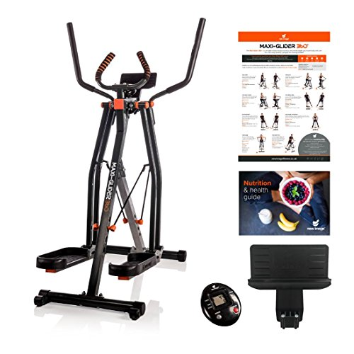 Maxi-Glider 360 with Resistance Levels - The 10-in-1 Home Exercise Fitness Trainer (Air Walker / Cross Trainer) includes Heart Rate Monitor & Tablet Holder (As Seen on High Street TV)