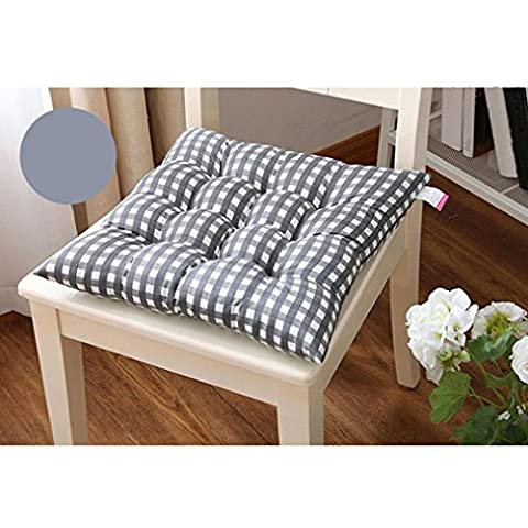 Kingko® Fashion New Candy Color Seat Pad Dining Room Garden Kitchen Office Chair Cushions (Gray)