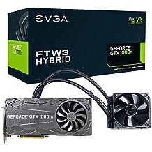 EVGA GeForce GTX 1080 Ti FTW3 Juego HÍBRIDO, 11 GB GDDR5X, HÍBRIDO Y LED RGB, tecnología iCX - 9 sensores térmicos Tarjeta gráfica 11G-P4-6698-KR