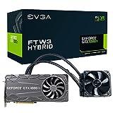 EVGA GeForce GTX 1080 Ti FTW3 HYBRID GAMING, 11GB GDDR5X, HYBRID & RGB LED, iCX Technologie - 9 Temperatur Sensoren Grafikkarte 11G-P4-6698-KR