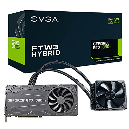Price comparison product image EVGA GeForce GTX 1080 Ti FTW3 HYBRID GAMING, 11GB GDDR5X, HYBRID & RGB LED, iCX Technology - 9 Thermal Sensors Graphics Card 11G-P4-6698-KR