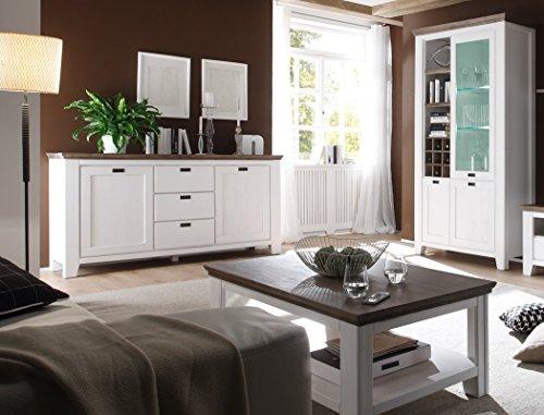 ᐅ Wohnzimmer Akazie weiß 6-teilig Landhausmöbel