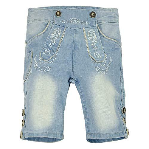 BONDI Trachten Jeansbermuda, Blue Denim 164 Lederhosen Rebel Artikel-Nr.29950