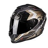 Scorpion Casque Motocorpion EXO 1400 AIR TRIKA, Noir/Or, Taille M