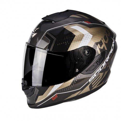 Scorpion Casco moto EXO-1400 AIR TRIKA Oro-Nero L