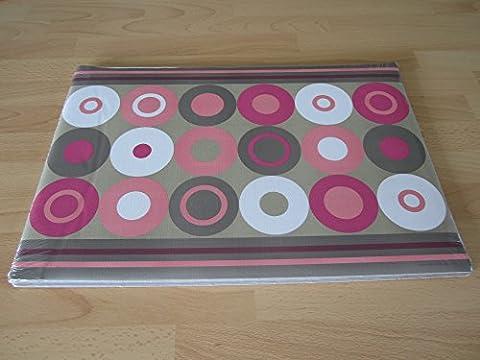 Crazy de sets de table papier rose à pois (Lot de 100)