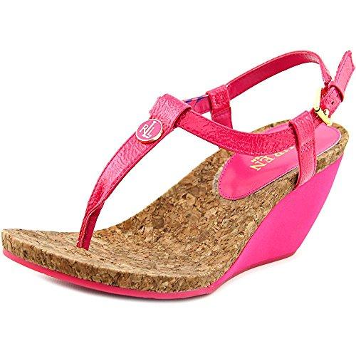 Lauren Ralph Lauren Reeta Synthétique Sandales Compensés Geranium Pink
