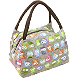 Fashion OWL Oxford cloth water proof Handbag meal bag for travel camping work school lunch box