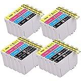 PerfectPrint - 18 Compatible Epson 16XL Cartuchos de tinta de la serie para Epson WorkForce WF-2010W Impresas WF-2510WF WF-2520NF WF-2530WF WF-2540WF