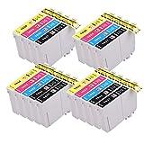 PerfectPrint Compatible Tinta Cartucho Reemplazo Para Epson WF-2010W WF-2510WF WF-2520NF WF-2530WF WF-2540WF WF-2630WF WF-2650DWF WF-2660DWF WF-2750DWF WF-2760dwf 16XL (B/C/M/Y, 18-Pack)