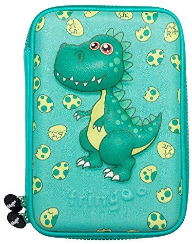 Großes Federmäppchen von Fringoo®, geprägte Harthülle, mehrere Fächer, Doppelreißverschluss, süße und lustige Designs Large Junior Dinosaur - Hardtop