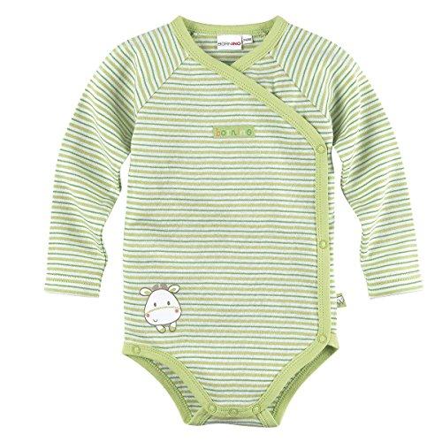 BORNINO Wickelbody langarm Baby, Größe 62/68, grün