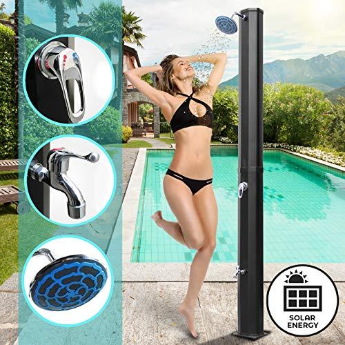 Ducha solar para piscina con cabezal redondo Aquamarin