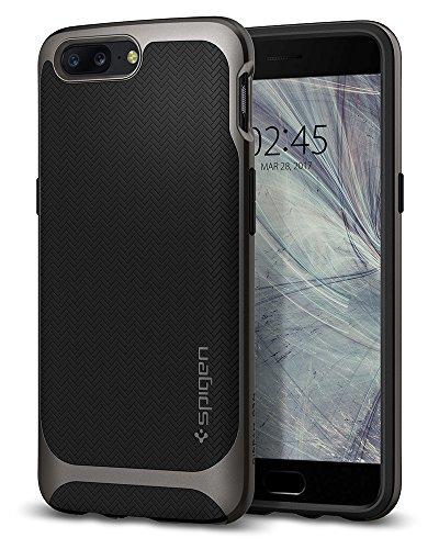 Spigen K04CS21515 Neo Hybrid für OnePlus 5 Hülle 2teilige Premium Handyhülle Dual Layer Schutzhülle Case - Gunmetal