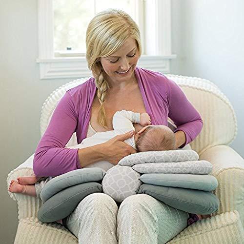 BabyMoon Multifunction Elevate Adjustable Nursing Pillow Infant Feeding Support (Grey)