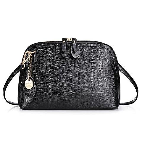 Vbiger Sac à main femme Mode Casual Sac PU cuir Sacs à bandoulière Petit sacs fourre-tout (Noir1)