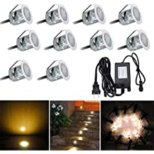 XUJW-LED, 10LED 2835SMD 6W 3000K / 4000K UE Enchufe el enchufe de los EEUU impermeable IP67 impermeabilizan la luz subterráneo del mini LED con el convertidor del adaptador de la fuente (1PCS) ( Color : Warm White , Size : US Plug )