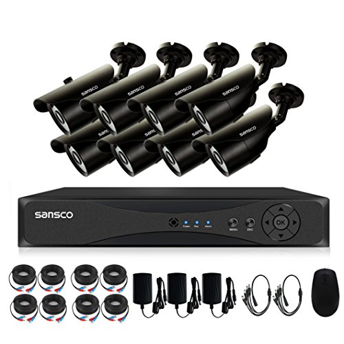 Cheapest SANSCO 8 Channel 1080p DVR CCTV Security Camera System w/ 8x 2.0MP HD Indoor Outdoor Cameras ( 1920x 1080, 2.0 Mega-Pixels, Night Vision, Vandal Proof and Waterproof, Push Email Alerts, NO HDD) Reviews