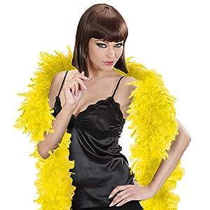 WIDMANN Bufanda de plumas Pequeño 180cm Accesorio Amarillo para 20s 30s baile de la aleta del Moll del vestido de lujo