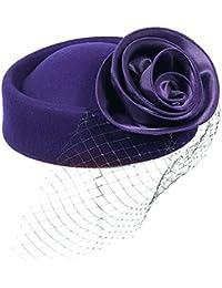 Kapmore cóctel Fashion Fascinator Sombrero diseño de flores, Red