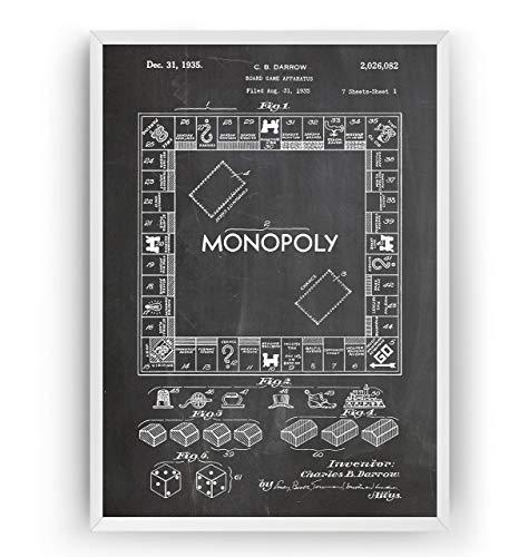 Patent Poster - Spielzimmer Jahrgang Drucke Drucken Bild Kunst Geschenke Zum Männer Frau Entwurf Dekor Vintage Art Gifts For Men Women Blueprint Decor - Rahmen Nicht Enthalten ()