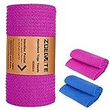 Zoegate Non Slip Yoga Towel (185cmx64cm) Extra Thick Hot Yoga Towel Hand Towel