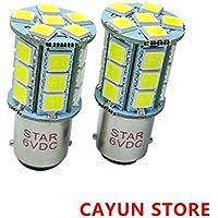 2-Pack BA15D S2511571158Super Helli necesidad 24SMD 5050LED bombillas Repuesto Auto & Moto freno Park intermitente luces color blanco 6500K DC 6V