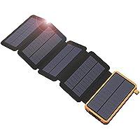 Cargador Solar X-DRAGON 20000mAh Power Bank con 5 paneles solares, USB dual, linterna LED Respaldo de batería externo portátil impermeable para iPhone, teléfonos celulares, ipad, tableta y más