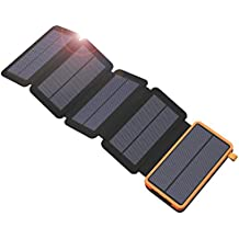 Solar Charger, X-DRAGON 20000mAh Solar Charger Power Bank with 5 Solar Panels, Dual USB, LED Flashlight Waterproof Portable External Battery Backup for iPhone, Cell Phones, ipad and More-Orange