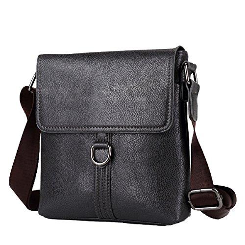 Yy.f Kreative Männer Umhängetasche Lässig Einfache Messenger Bag PU Leder  Herren Rucksack Reisen Arbeit ... 4f52703e09