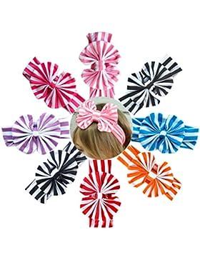 ARAUS Niña de Diademas 8-Pack Assorted-color Bebé Conejo Lazo Nudo Turbante 1-8Años