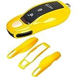 AeroBon 3-delige geschilderde sleutelhoes/sleutelhanger Shell Cover compatibel met Porsche Key Shell MK1