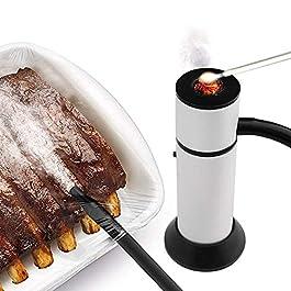 ARINO Affumicatore Pistola Portatile Smoking Gun Professionale per Salmone Salumi Pesce Formaggio Cocktail Carne Bruciatori da Cucina, Adatto per BBQ Campeggio a Casa all'aperto