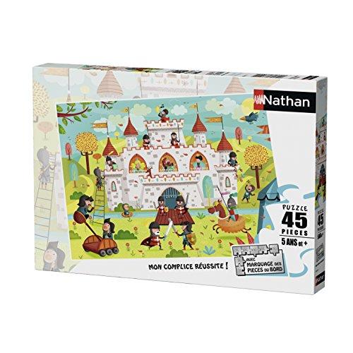 Nathan 86467-Puzzle a el Asalto del Castillo 45Piezas