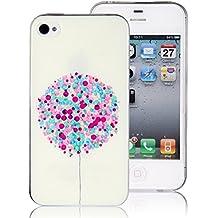 Gel de plástico blando JewelryWe globos de colores carcasa para Apple iPhone 4 4S volando