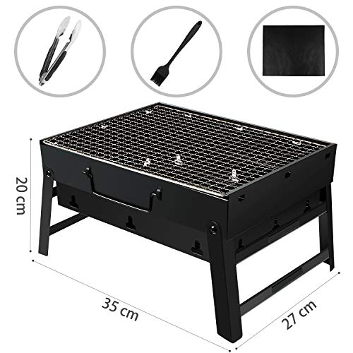 Zoom IMG-3 barbecue carbone portatile golwof grill