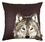 Tom Tailor 562365 T-Wolf - Funda de cojín, diseño de lobo