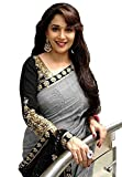 #8: Women's Clothing Beautiful Madhuri Bollywood Party Wear Offer Designer Grey Bhagalpuri Silk Sarees with Blouse Piece Buy Online Today Special Sale Offers