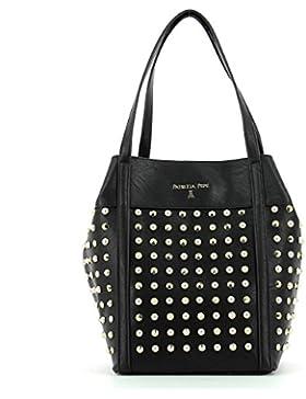 Borsa PATRIZIA PEPE shopping borchie luce manici 24cm + pochette interna con zip, larg. 22 alt. 31 p24